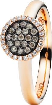 Ring Capolavoro Dolcini aus 750 Roségold mit 43 Brillanten (0,23 Karat)