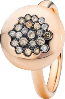 Ring Capolavoro Dolcini aus 750 Roségold mit 22 Brillanten (0,27 Karat)