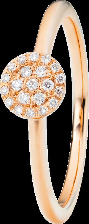 Ring Capolavoro Dolcini aus 750 Roségold mit 21 Brillanten (0,1 Karat)