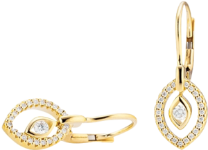 Ohrhänger Capolavoro Glam Motion aus 750 Gelbgold mit 48 Brillanten (2 x 0,11 Karat)