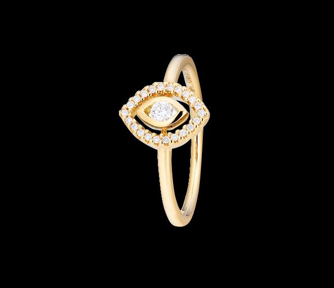 Ring Capolavoro Glam Motion aus 750 Gelbgold mit 23 Brillanten (0,14 Karat) bei Brogle