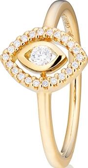 Ring Capolavoro Glam Motion aus 750 Gelbgold mit 23 Brillanten (0,14 Karat)