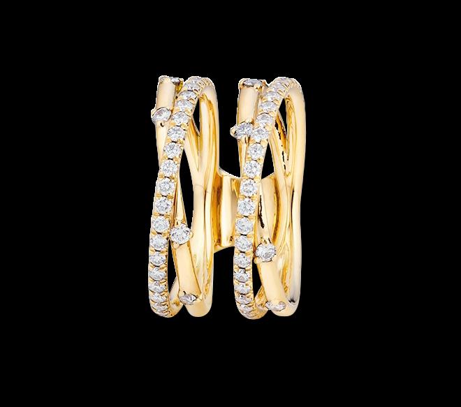 Ring Capolavoro Jaquet aus 750 Gelbgold mit 74 Brillanten (0,39 Karat) bei Brogle