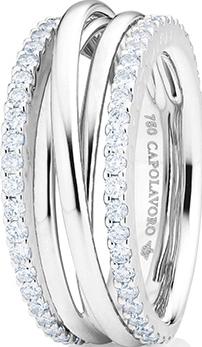 Ring Capolavoro Magnifico aus 750 Weißgold mit 58 Brillanten (0,89 Karat)