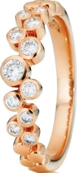 Ring Capolavoro Prosecco aus 750 Roségold mit 11 Brillanten (0,3 Karat)