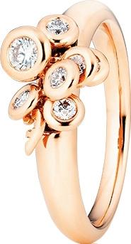 Ring Capolavoro Prosecco aus 750 Roségold mit 7 Brillanten (0,33 Karat)