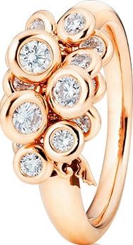 Ring Capolavoro Prosecco aus 750 Roségold mit 15 Brillanten (0,75 Karat)
