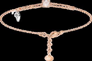 Armband mit Anhänger Capolavoro Capriccio aus 750 Roségold und 750 Weißgold mit 1 Rosenquarz und 17 Brillanten (0,06 Karat)