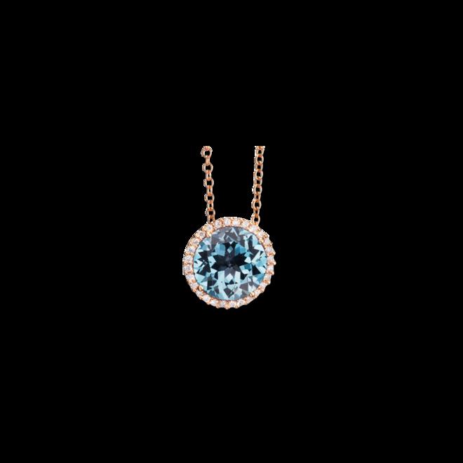 Anhänger Capolavoro Espressivo aus 750 Roségold mit 1 Topas und 28 Diamanten (0,14 Karat) bei Brogle