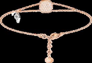 Armband mit Anhänger Capolavoro Happy Holi aus 750 Roségold und 750 Weißgold mit 103 Brillanten (0,59 Karat)