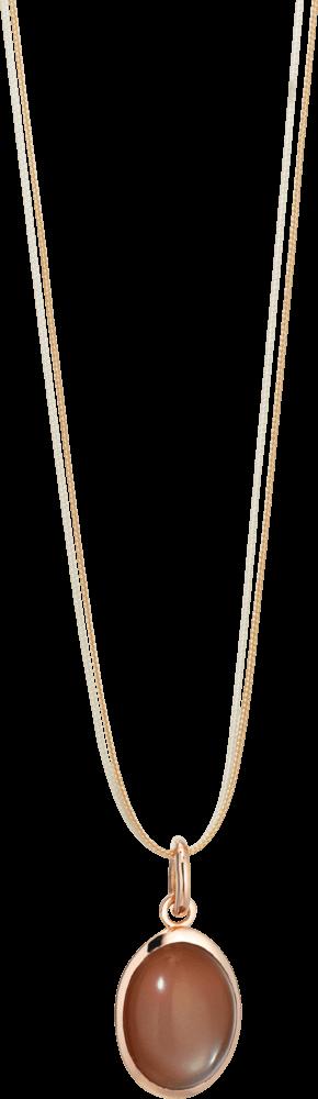 Anhänger Capolavoro Velluto aus 750 Roségold mit 1 Mondstein