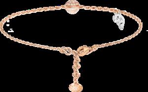 Armband mit Anhänger Capolavoro Velluto aus 750 Roségold und 750 Weißgold mit 1 Topas und 20 Brillanten (0,06 Karat)