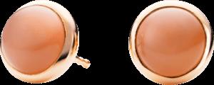 Ohrstecker Capolavoro Velluto aus 750 Roségold mit 2 Mondsteinen