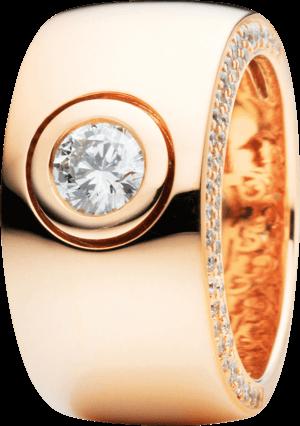 Ring Capolavoro Eleganza aus 750 Roségold mit 95 Brillanten (0,81 Karat)