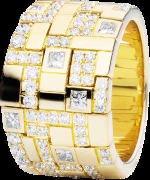 Ring Capolavoro Palazzo aus 750 Gelbgold mit 72 Diamanten (1,15 Karat)