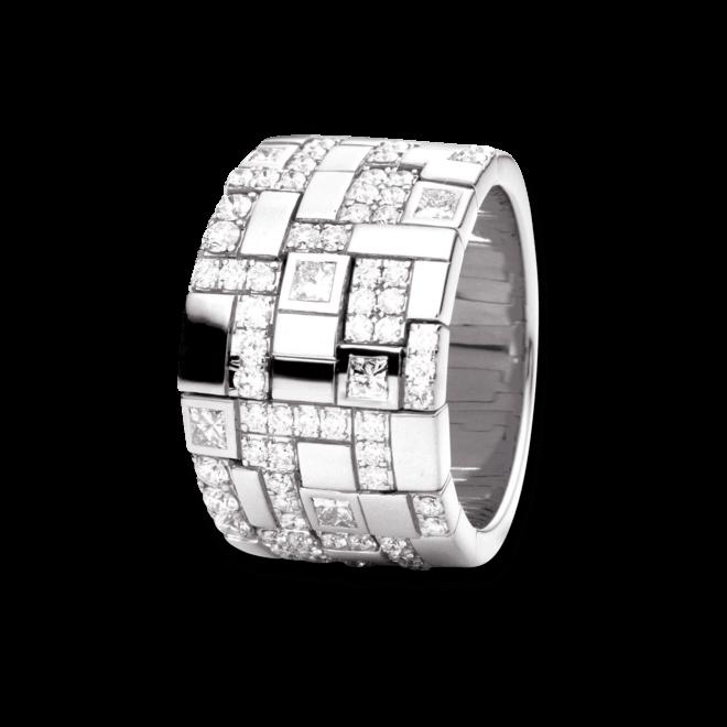 Ring Capolavoro Palazzo aus 750 Weißgold mit 72 Diamanten (1,15 Karat)