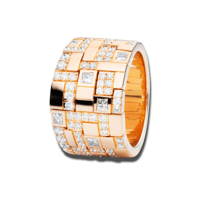 Ring Capolavoro Palazzo aus 750 Roségold mit 72 Diamanten (1,15 Karat)