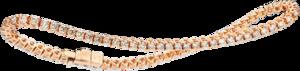 Armband Capolavoro Classico aus 750 Roségold mit 71 Brillanten (2,8 Karat) Größe 18 cm