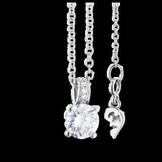 Capolavoro Halskette mit Anhänger Diamante in Amore 4-er Krappe CO8B05010.0.05TW-VS