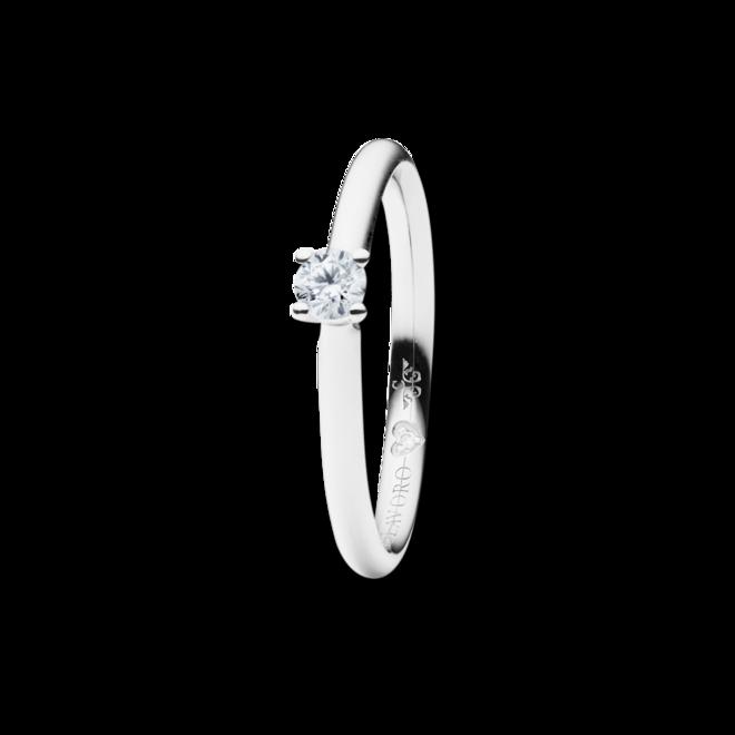 Solitairering Capolavoro Diamante in Amore 4-er Krappe aus 750 Weißgold mit 2 Brillanten (0,105 Karat) bei Brogle