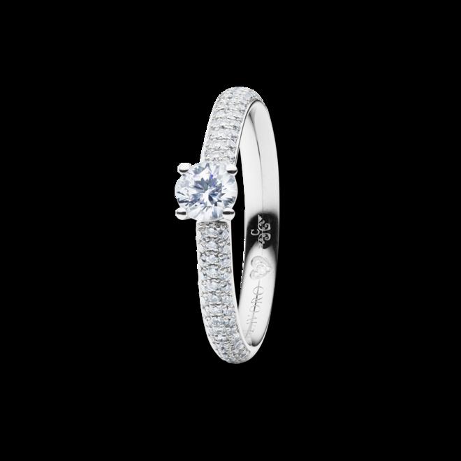 Solitairering Capolavoro Diamante in Amore 4-er Krappe aus 750 Weißgold mit mehreren Brillanten (0,255 Karat) bei Brogle