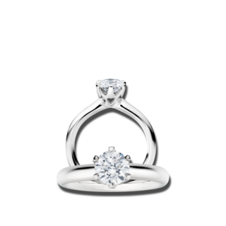 Capolavoro Solitairering Diamante in Amore 6-er Krappe RI8B05060.0.15TWVS