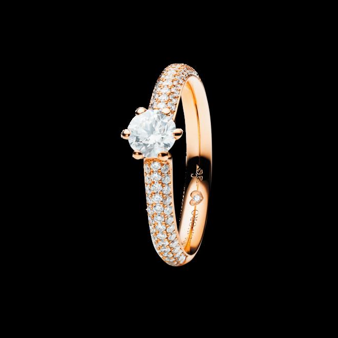Solitairering Capolavoro Diamante in Amore 6-er Krappe aus 750 Roségold mit mehreren Brillanten (0,255 Karat) bei Brogle