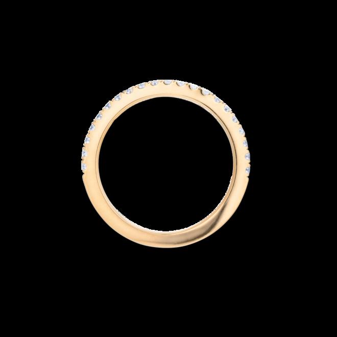 Memoirering Capolavoro Diamante in Amore aus 750 Gelbgold mit 22 Diamanten (0,265 Karat) halb ausgefasst bei Brogle