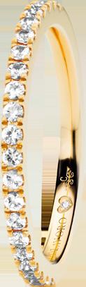Memoirering Capolavoro Diamante in Amore aus 750 Gelbgold mit 22 Diamanten (0,265 Karat) halb ausgefasst