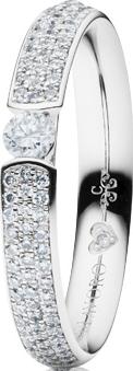 Ring Capolavoro Diamante in Amore aus 750 Weißgold mit 64 Brillanten (1,555 Karat)