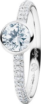 Ring Capolavoro Diamante in Amore aus 750 Weißgold mit 100 Brillanten (0,295 Karat)