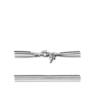 Capolavoro Halskette 3-reihig KETTE8040.SCHWARZ.80