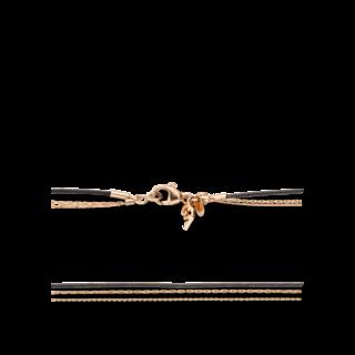 Capolavoro Halskette 3-reihig KETTE9040.SCHWARZ.80