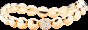 Armband Capolavoro Dolcini Flessibile aus 750 Gelbgold mit 31 Brillanten (0,26 Karat)