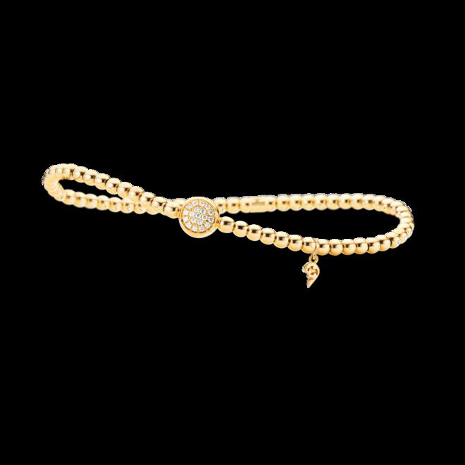 Armband Capolavoro Dolcini Flessibile aus 750 Gelbgold mit 19 Brillanten (0,1 Karat)