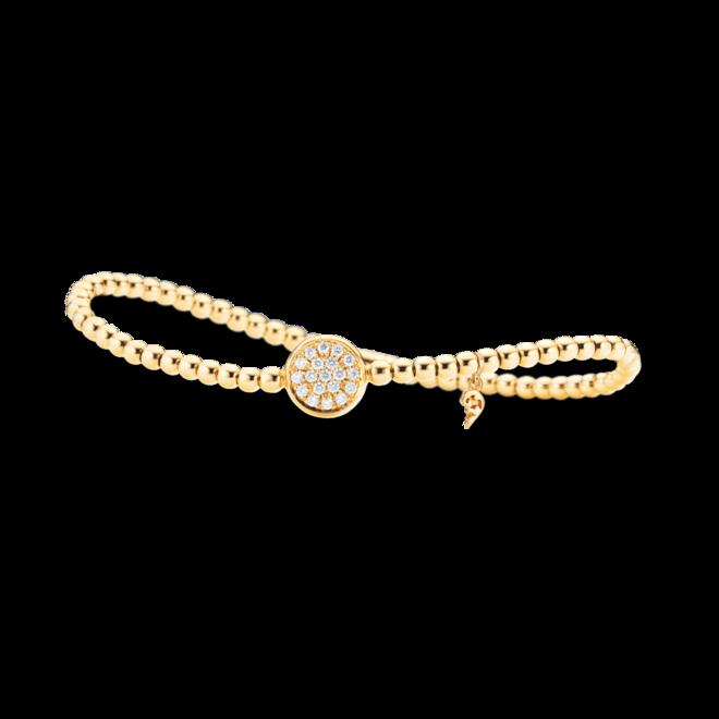 Armband Capolavoro Dolcini Flessibile aus 750 Gelbgold mit 19 Brillanten (0,27 Karat)