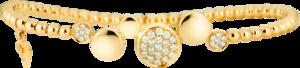 Armband Capolavoro Dolcini Flessibile aus 750 Gelbgold mit 33 Brillanten (0,36 Karat)