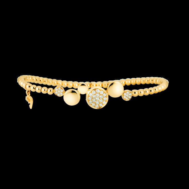 Armband Capolavoro Dolcini Flessibile aus 750 Gelbgold mit 33 Brillanten (0,36 Karat) bei Brogle