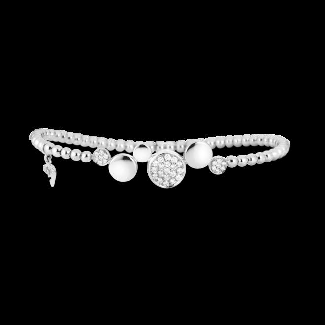 Armband Capolavoro Dolcini Flessibile aus 750 Weißgold mit 33 Brillanten (0,36 Karat)