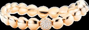 Armband Capolavoro Dolcini Flessibile aus 750 Roségold mit 31 Brillanten (0,26 Karat)