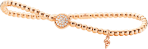 Armband Capolavoro Dolcini Flessibile aus 750 Roségold mit 19 Brillanten (0,1 Karat)