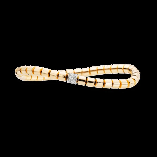 Armband Capolavoro Flessibile aus 750 Gelbgold mit mehreren Brillanten (0,3 Karat)