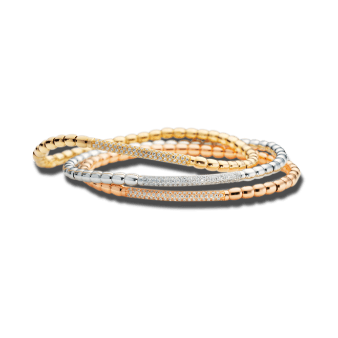 Armband Capolavoro Flessibile aus 750 Gelbgold mit 80 Brillanten (0,43 Karat) bei Brogle