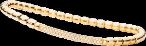 Armband Capolavoro Flessibile aus 750 Gelbgold mit 80 Brillanten (0,43 Karat)