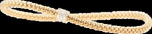 Armband Capolavoro Flessibile aus 750 Gelbgold mit 23 Brillanten (0,31 Karat)