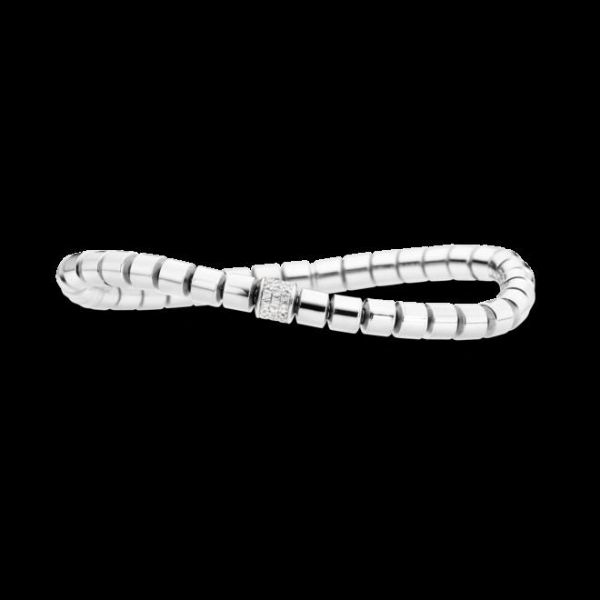 Armband Capolavoro Flessibile aus 750 Weißgold mit mehreren Brillanten (0,3 Karat)