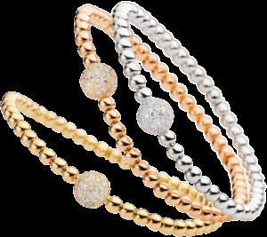Armband Capolavoro Flessibile aus 750 Weißgold mit 41 Brillanten (0,77 Karat)