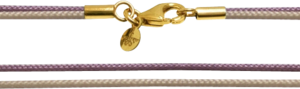 Halskette Capolavoro aus Textil und 750 Gelbgold