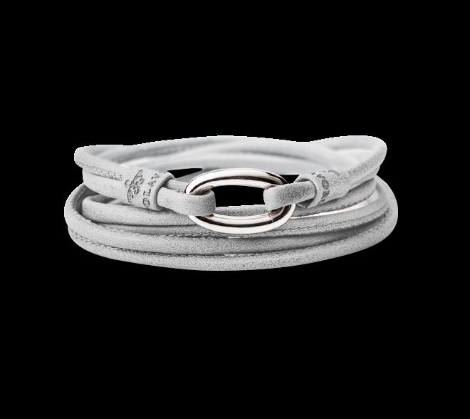 Armband Capolavoro Hellgrau aus Kalbsleder Größe 56 cm bei Brogle