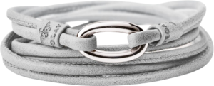 Armband Capolavoro Hellgrau aus Kalbsleder Größe 56 cm